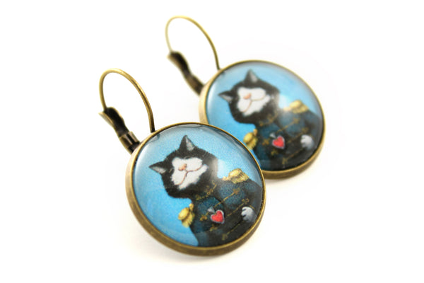 "Earrings ""All's fair in love and war"" (Cat)"