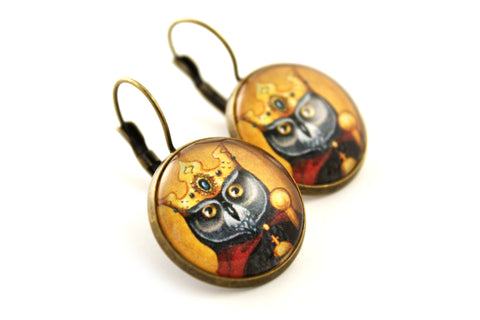 "Earrings ""Own eye is king"""