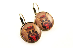 "Earrings ""Fear has big eyes"""