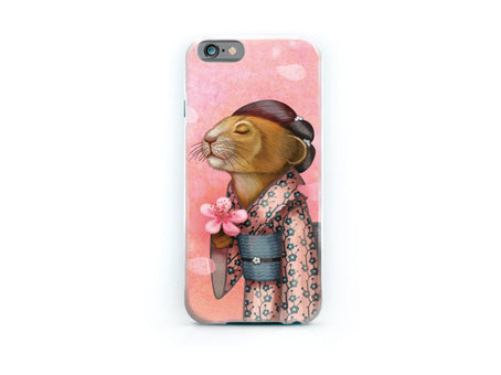 "iPhone cover ""A fallen blossom never returns to the branch"" (Pika)"