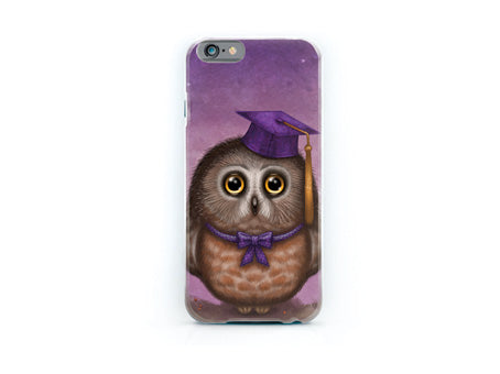 "iPhone cover ""Wonder is beginning of wisdom"" (Owl)"