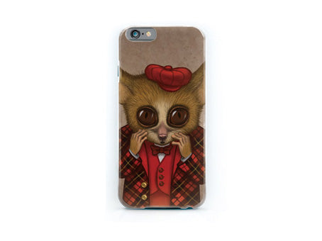 "iPhone cover ""Fear has big eyes"" (Mouse lemur)"