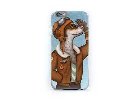 "iPhone cover ""Have courage and the world is yours"" (Dog)"