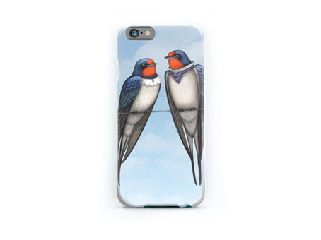 "iPhone cover ""Everybody loves his homeland"" (Swallows)"