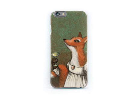 "iPhone cover ""She who doesn't risk never gets to drink champagne"" (Fox)"