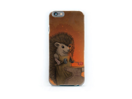 "iPhone cover ""Everyone is the blacksmith of his own fortune"" (Hedgehog)"