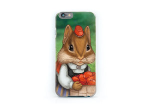 "iPhone cover ""Other land blueberry, own land strawberry"""