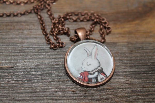 "Pendant ""Unlucky at cards, lucky in love"" (Hare)"
