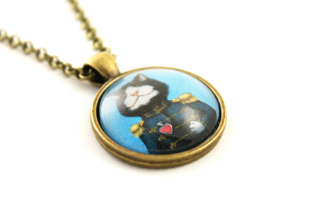 "Pendant ""All's fair in love and war"" (Cat)"