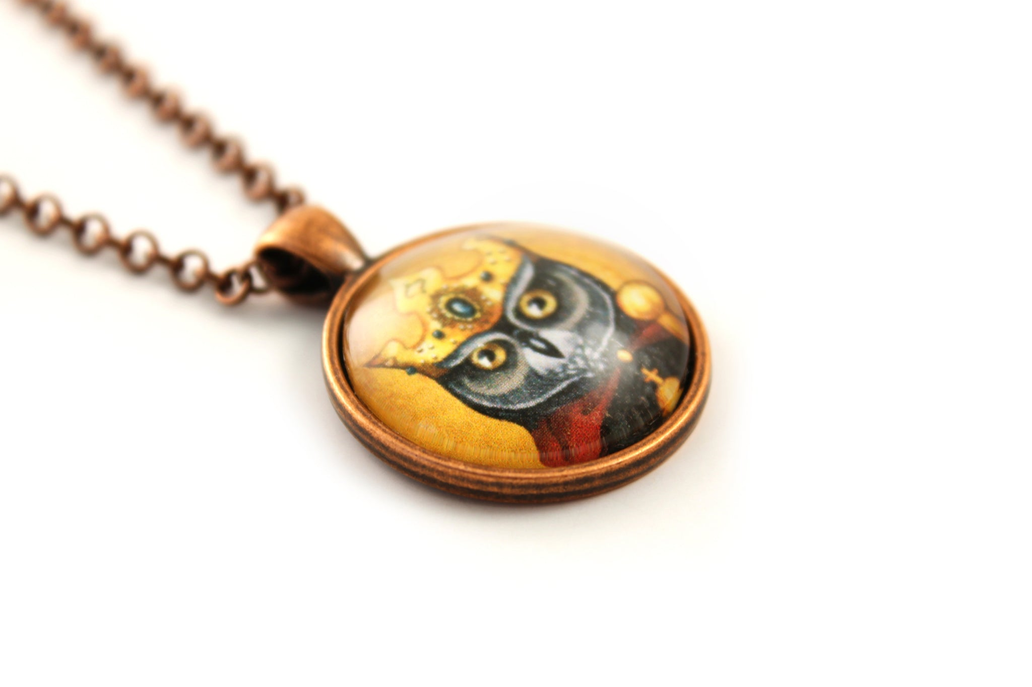 "Pendant ""Own eye is king"" (Owl)"