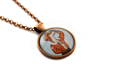 "Pendant ""Have courage and the world Is yours"" (Dog)"