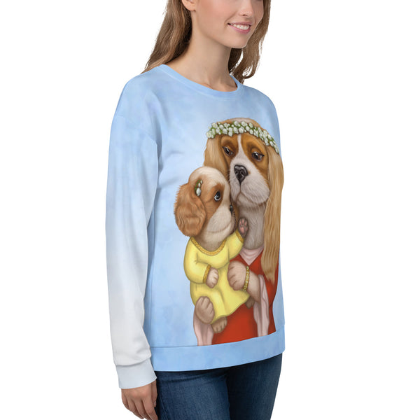 "Unisex sweatshirt ""Time brings everything to those who can wait for it"" (Cavalier King Charles Spaniels)"