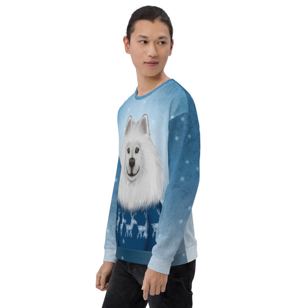 "Unisex sweatshirt ""No snowflake ever falls in the wrong place"" (Samoyed)"