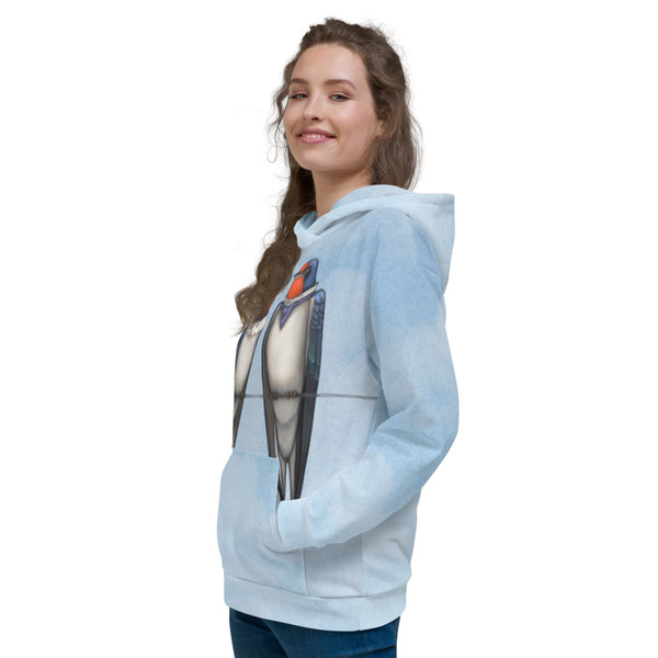 "Unisex hoodie ""Everybody loves his homeland"" (Swallows)"