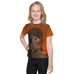 "Unisex kids T-shirt ""Everyone is the blacksmith of his own fortune"" (Hedgehog)"