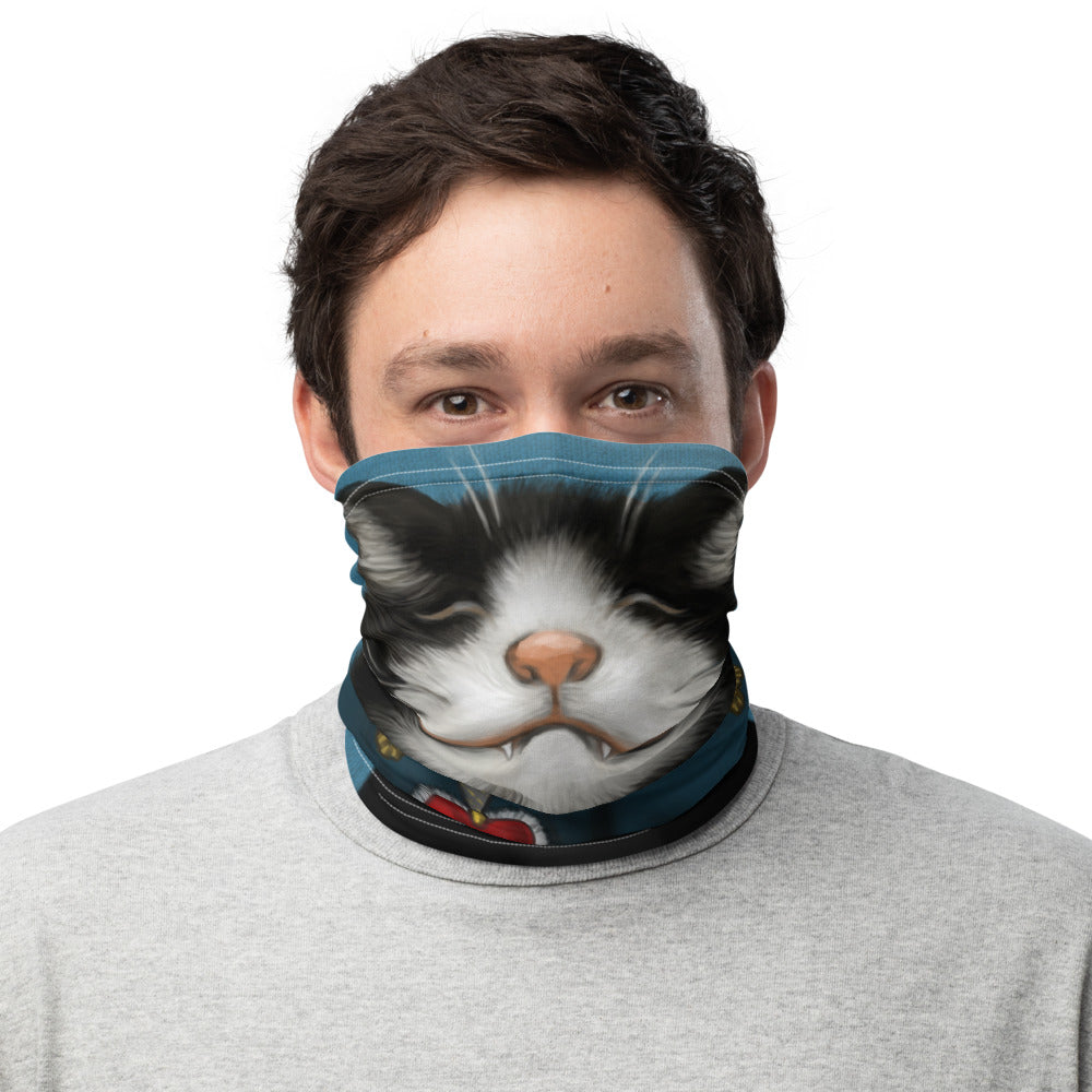 "Neck gaiter ""All's fair in love and war"" (Cat)"