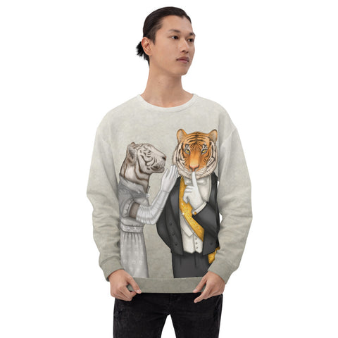 "Unisex sweatshirt ""Speech is silver, silence is golden"" (Tigers)"