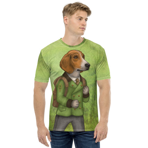 "Men's T-shirt ""Do not wait until tomorrow to hunt"" (Estonian Hound)"