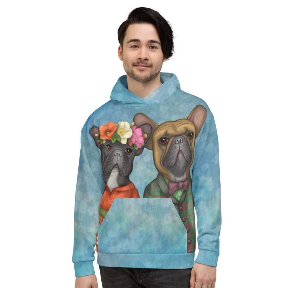 "Unisex hoodie ""A life without love is like a year without summer"" (French Bulldogs)"