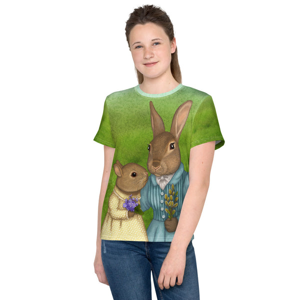 "Unisex youth T-shirt ""It is never winter in the land of hope"" (Hares)"