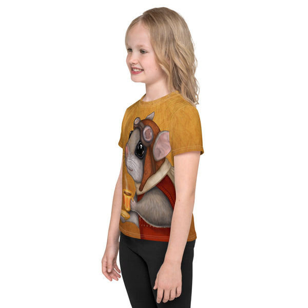 "Unisex kids T-shirt ""Who is timid in the woods boasts at home"" (Flying squirrel)"