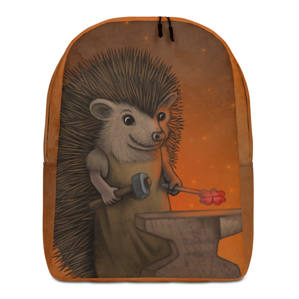 "Backpack ""Everyone is the blacksmith of his own fortune"" (Hedgehog)"