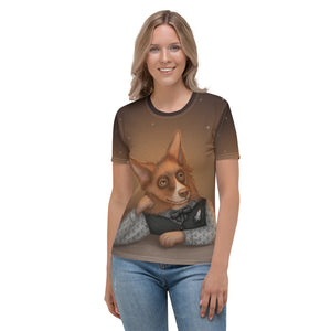 "Women's T-shirt ""He who understands music understands the cosmos"" (Border Collie)"