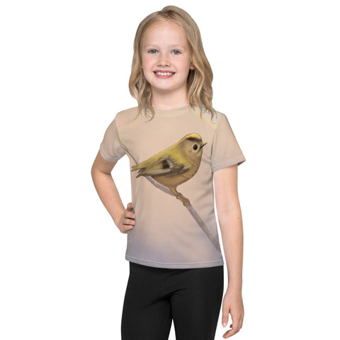 "Unisex kids T-shirt ""A small tear relieves a great sorrow"" (Goldcrest)"