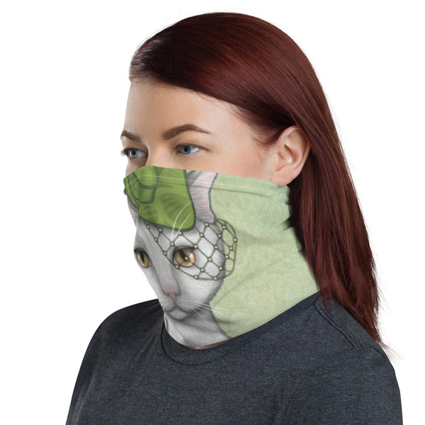 "Neck gaiter ""Smooth cat, sharp claws"" (Cat)"