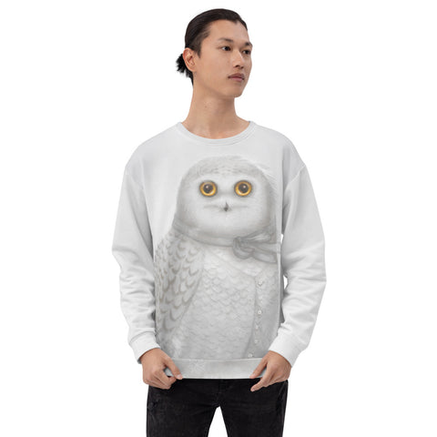 "Unisex sweatshirt ""The North wind does blow and we shall have snow"" (Snowy owl)"