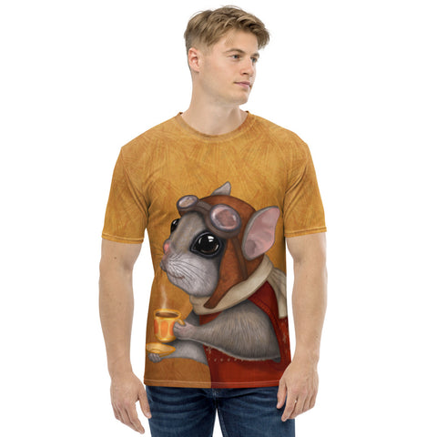 "Men's T-shirt ""Who is timid in the woods boasts at home"" (Flying squirrel)"
