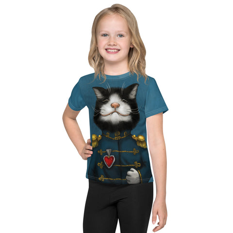 "Unisex kids T-shirt ""All's fair in love and war"" (Cat)"