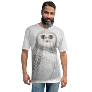 "Men's T-shirt ""The North wind does blow and we shall have snow"" (Snowy owl)"