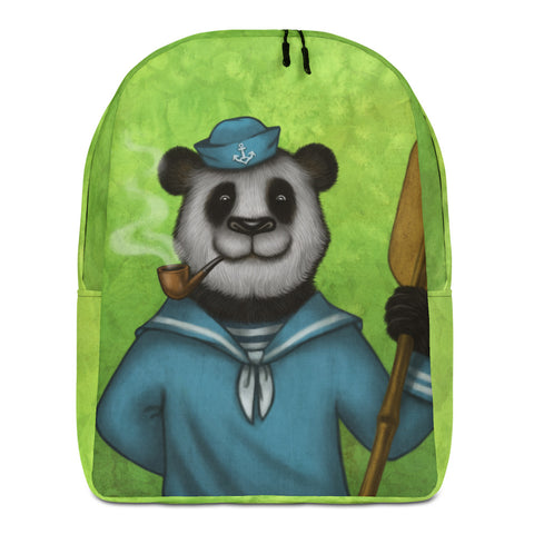 "Backpack ""Rowing slower will get you further"" (Giant panda)"