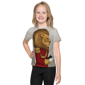"Unisex kids T-shirt ""The word is stronger than the army"" (Lion)"