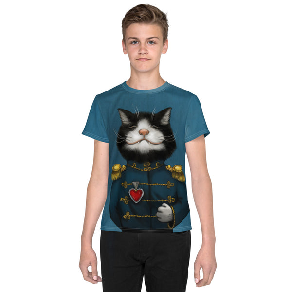 "Unisex youth T-shirt ""All's fair in love and war"" (Cat)"