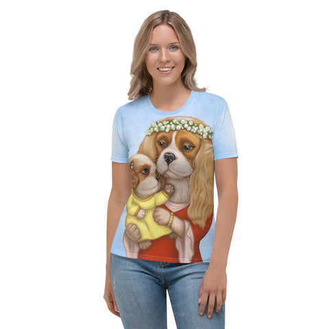 "Women's T-shirt ""Time brings everything to those who can wait for it"" ( Cavalier King Charles Spaniels)"