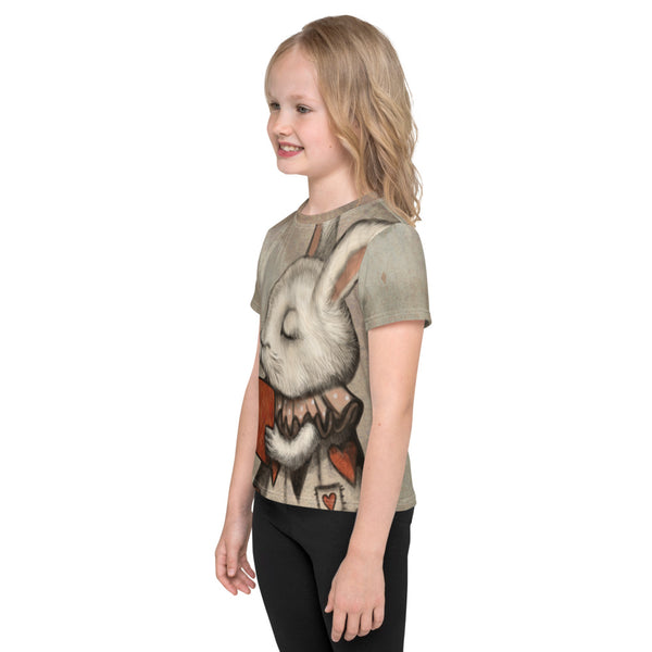 "Unisex kids T-Shirt ""Lucky at cards, unlucky in love"" (Hare)"