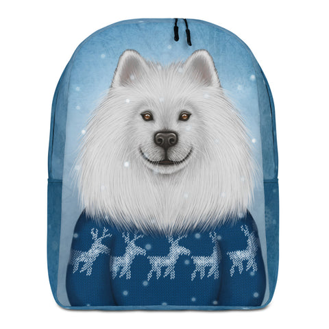 "Backpack ""No snowflake ever falls in the wrong place"" (Samoyed)"