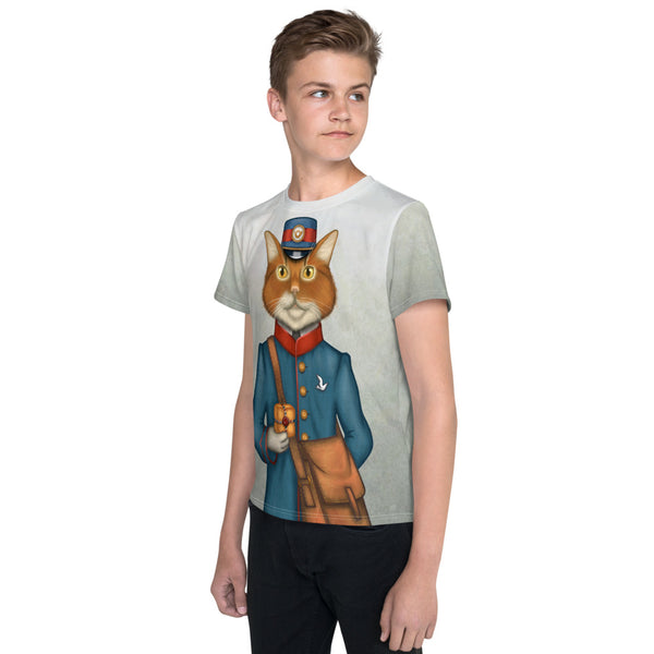 "Unisex youth T-shirt ""The best things come in small packages"" (Cat)"