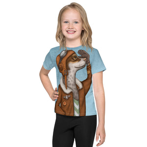"Unisex kids T-shirt ""Have courage and the world is yours"" (Dog)"