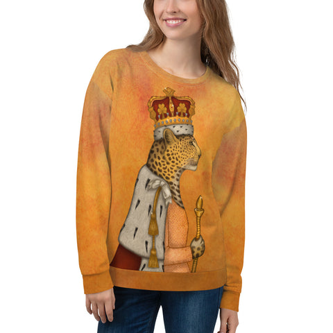"Unisex sweatshirt ""In every woman there is a queen"" (Leopard)"