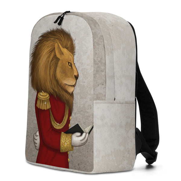 "Backpack ""The word is stronger than the army"" (Lion)"
