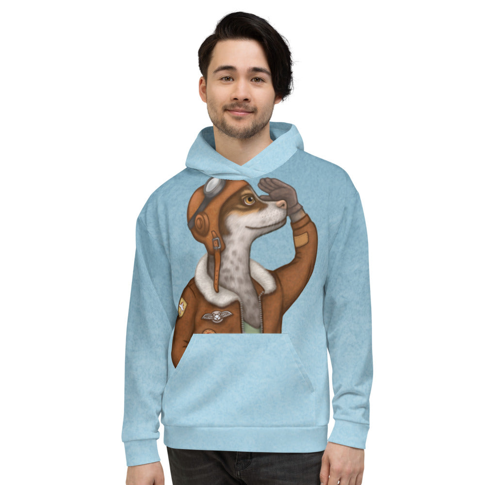 "Unisex hoodie ""Have courage and the world is yours"" (Dog)"