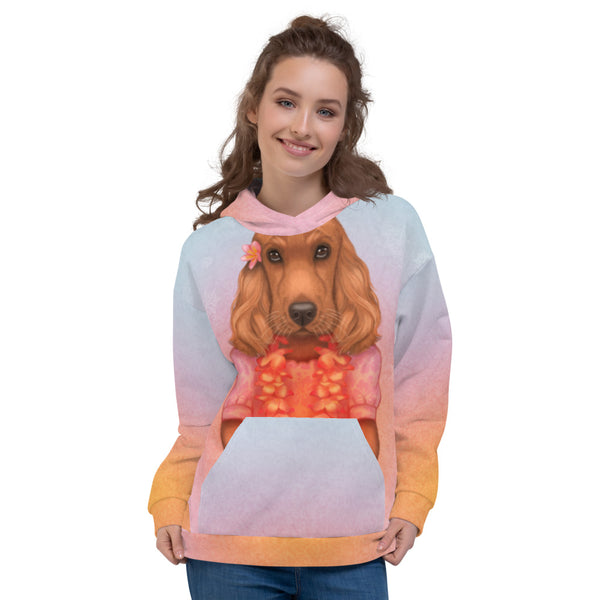 "Unisex hoodie ""Love is worn like a wreath through the summers and the winters"" (English Cocker Spaniel)"