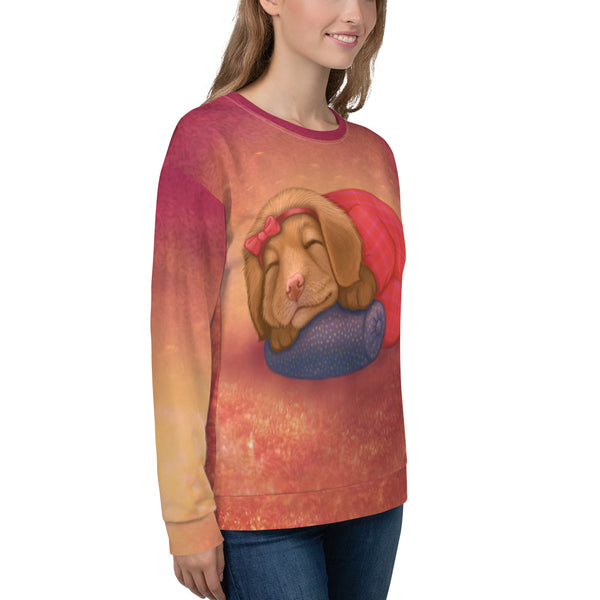 "Unisex sweatshirt ""Let her sleep for when she wakes she will move mountains"" (Nova Scotia Duck Tolling Retriever)"