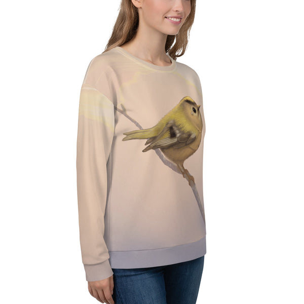 "Unisex sweatshirt ""A small tear relieves a great sorrow"" (Goldcrest)"