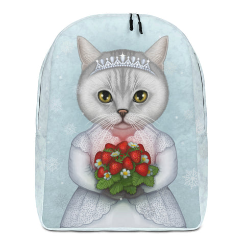 "Backpack ""Don't marry a girl who wants strawberries in January"" (British shorthair)"