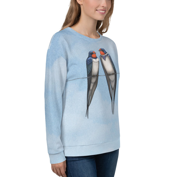 "Unisex sweatshirt ""Everybody loves his homeland"" (Swallows)"