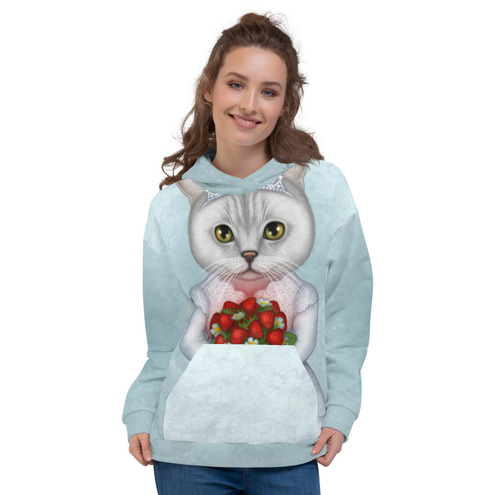 "Unisex hoodie ""Don't marry a girl who wants strawberries in January"" (British Shorthair)"